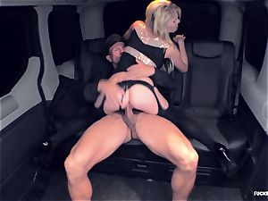 FuckedInTraffic - light-haired slit providing a oral pleasure to her driver