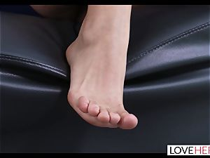scorching foot lovemaking With My Sisters cuckold beau