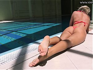 famous Mary Kalisy is swimming nude for XXXWATER