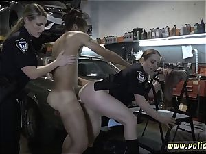 cougar web cam onanism and wifey with large dark-hued shaft first time Chop Shop proprietor Gets