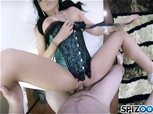 mischievous bang-out pie Romi Rain plowed in her puss pudding point of view style
