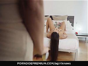 A chick KNOWS - Mea Melone in strenuous sapphic intercourse