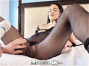 Exotic4k brazilian Adrian Hush trussed up fuck and internal cumshot