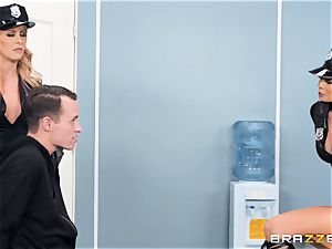 Cherie Deville and Ryder Skye in uniform