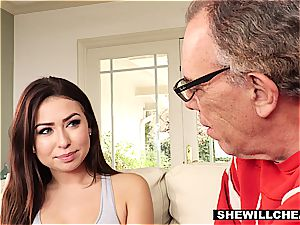 SheWillCheat- cheating husband observes warm wifey penetrate bbc