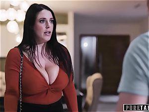 pure TABOO Virtual secretary Angela compels Couples fuck-a-thon