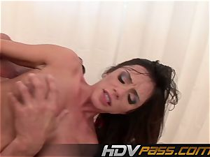 HDVPass huge-titted babe Ariella Ferrera Gets Down