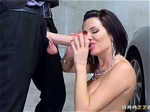 mischievous mature Veronica Avluv arched over and poked