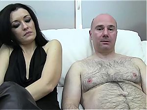 Spanish dame getting cum frosted