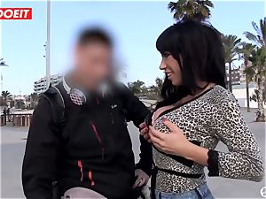 nasty babe Picks up A man On The Street and pounds Him