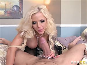cam nymph Nina Elle caught by her stepson