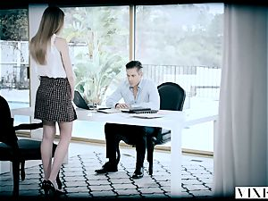 VIXEN insatiable assistant Gets roped Up and banged By Her boss