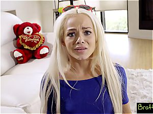 Bratty step-sister - LilSis Falls For Bros VDay Surprise S4:E4