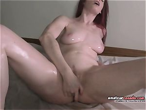 ginormous twat lips oily and raw orgasming college babe