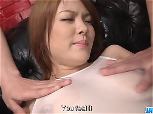 Subtitles - japanese sweetie Rei gets salami in her ultra-cute