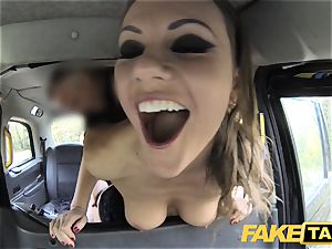 fake cab Posh gals engorged cunt and ass boinked