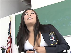 schoolgirl London gets fucked on the teacher's desk