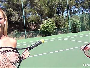 sans bra tennis with Dani Daniels and Cherie DeVille