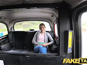 faux taxi uber-cute puny nubile gets free ride