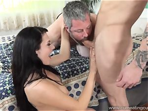 Megan Sages hubby milks lil' pink cigar As She Gets poked