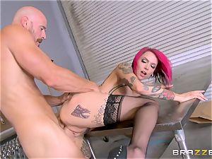 scorching boss Anna Bell Peaks rails her employees schlong