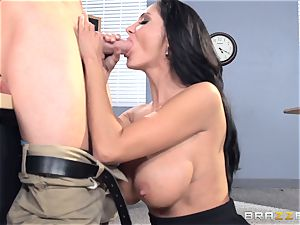 big-chested lecturer Ava Addams is plumbed by her schoolgirl