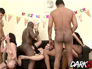 big-chested honeys Stuff Every fuck hole with big black cock