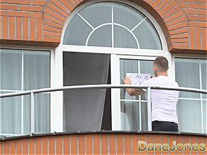 Dane Jones spycam tears up his handsome neighbour
