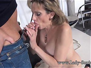 cameraman Face plows Mature nymph Sonia