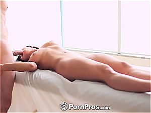 infatuating dark haired Rahyndee James is romped
