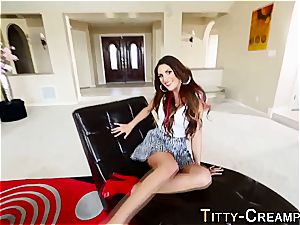 breasts female August Ames jizz strewn
