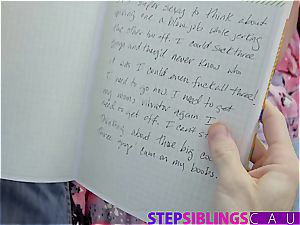 Stepsis blackmailed to fuck step-brother to keep her messy secrets
